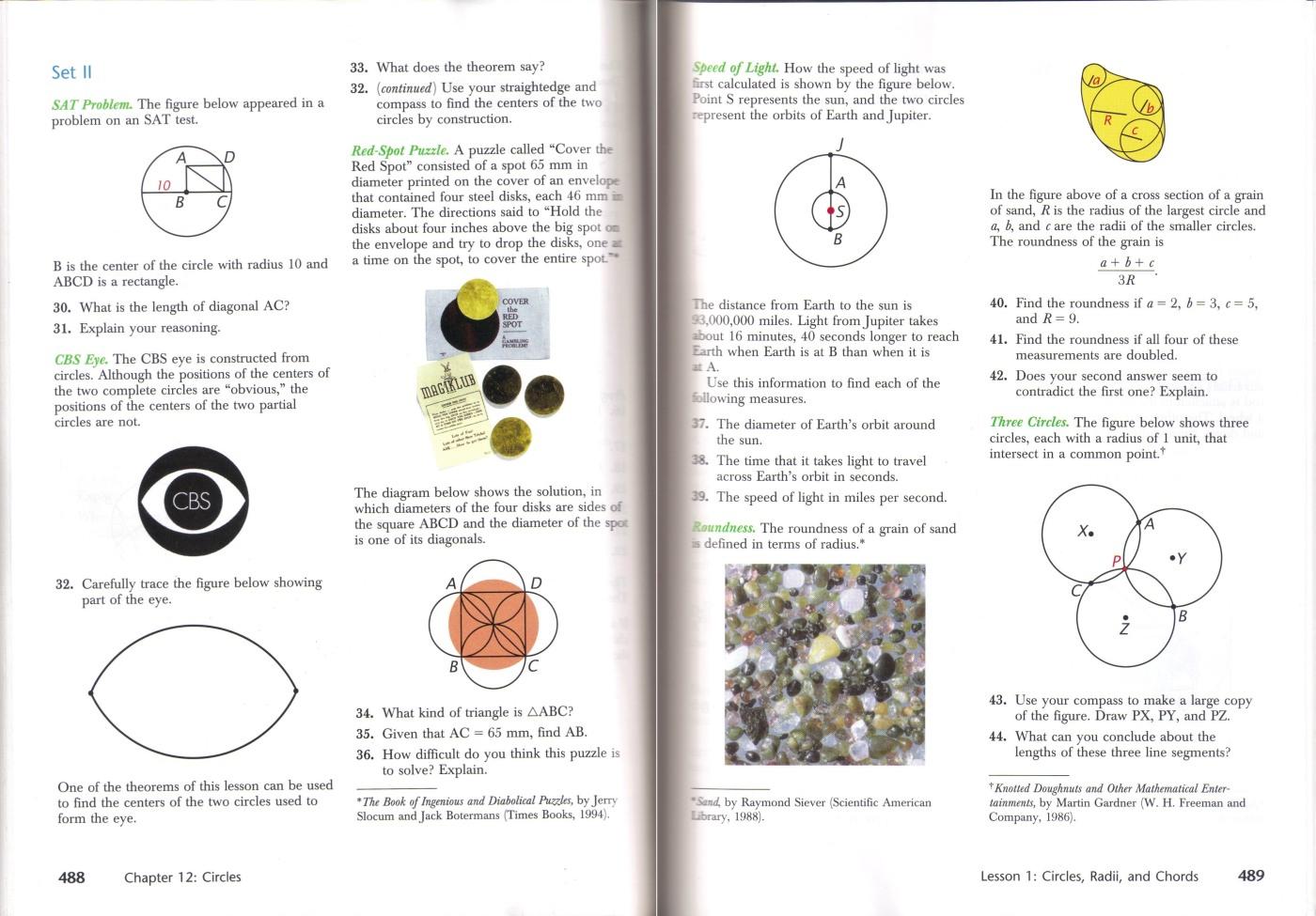 Review Of Harold Jacobs Geometry Seeing Doing Understanding