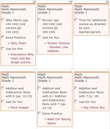 Lesson Plans for Math Mammoth Complete Curriculum (Light Blue Series)