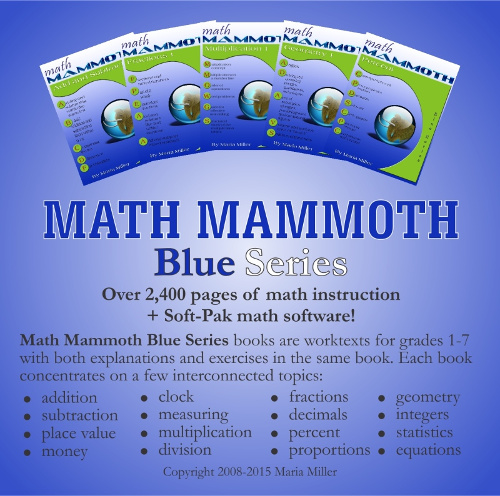 Math mammoth blue series worktexts by topics addition blue series bundle deal fandeluxe Gallery