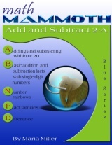Math Mammoth Add Subtract 2-A math book cover