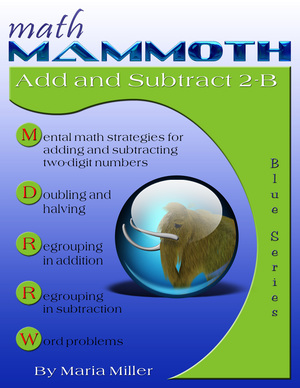 Math Mammoth Add Subtract 2-B math book cover