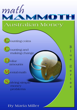 Math Mammoth Australian Money workbook cover