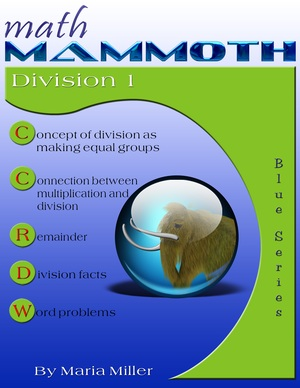 Math Mammoth Division 1 math book cover