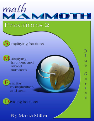 Math Mammoth Fractions 2 math book cover
