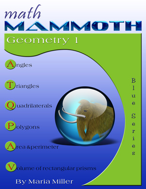 Math Mammoth Geometry 1 math book cover
