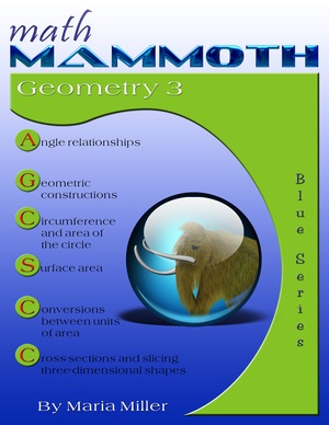 Math Mammoth Geometry 3 math book cover