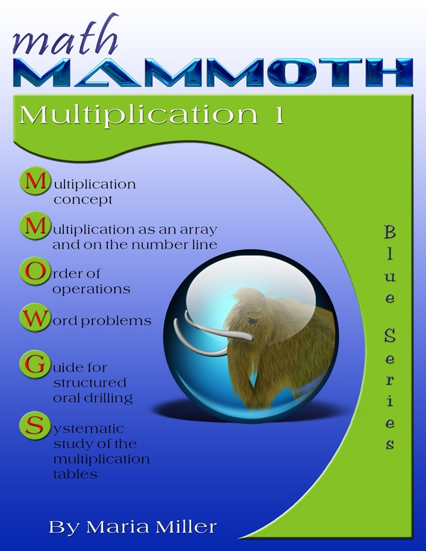 Math mammoth multiplication 1 master the times tables self math mammoth multiplication 1 math book cover fandeluxe Gallery