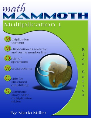 Math Mammoth Multiplication 1 math book cover