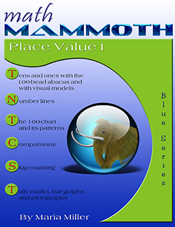 Math Mammoth Place Value 1 math book cover
