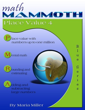 Math Mammoth Place Value 4 math book cover