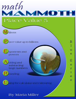 Math Mammoth Place Value 5 math book cover