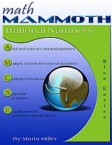 Math Mammoth Rational Numbers workbook cover