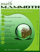 Math Mammoth Decimals Worksheet Collection book cover