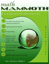 Math Mammoth Fractions Worksheets Collection book cover