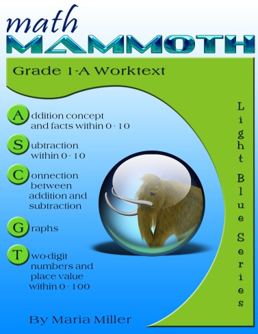 Math Mammoth Grade 1 Complete curriculum - description, samples, and ...