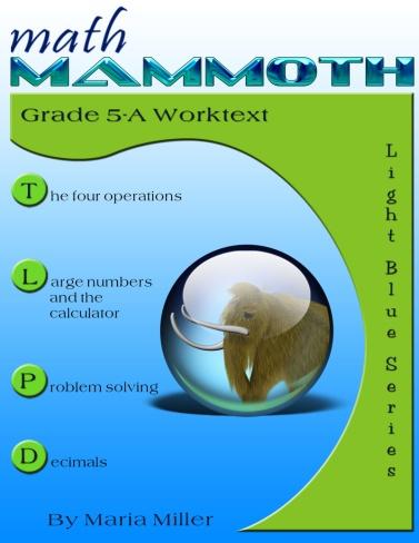 Math Mammoth Grade 5 Complete curriculum - description