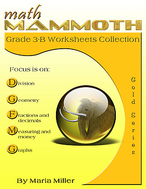 MathMammoth Grade 3-B Worksheet Collection book cover