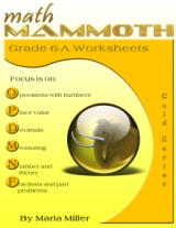 Math Mammoth Grade 6-A Worksheet Collection book cover