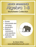 Algebra 1-B worksheets cover
