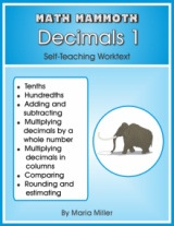Math Mammoth Decimals 1 math book cover