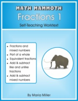 Math Mammoth Fractions 1 math book cover