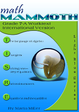 cover for Math Mammoth Grade 7-B Complete Worktext