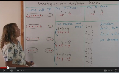 Strategies for Addition Facts video