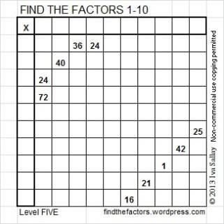 Find factors puzzle 1