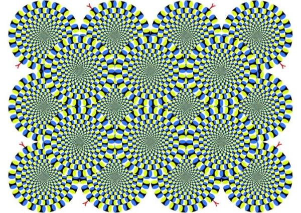 Rotating snakes optical illusion