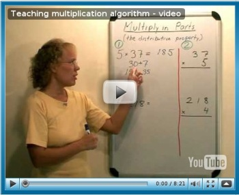 Teaching multiplication algorithm