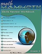 Math Mammoth Grade 1 Skills Review Workbook