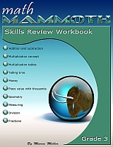 cover for Math Mammoth Grade 3 Skills Review Workbook