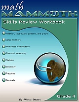 cover for Math Mammoth Grade 4 Skills Review Workbook