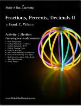 Make It Real Learning Fractions, Decimals, Percents II workbook
